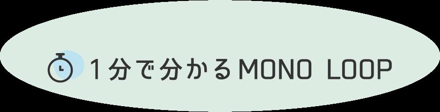 1分でわかるMONO LOOP(モノ・ループ)