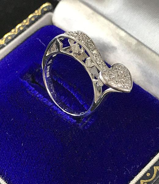 ダイヤモンド カラッチ パヴェダイヤリング
