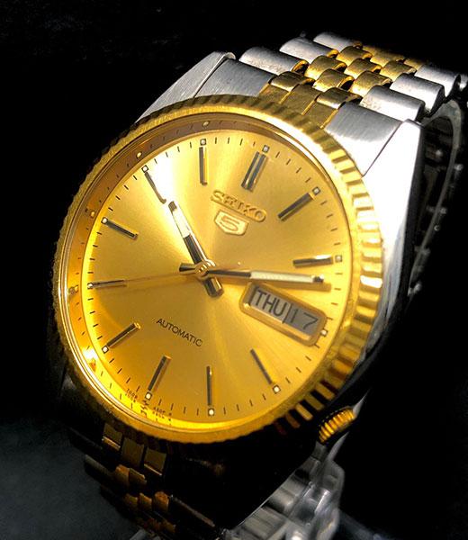 セイコーファイブ メンズ コンビ 腕時計 自動巻き